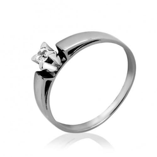 Кольцо из белого золота с фианитом КВ1107Би