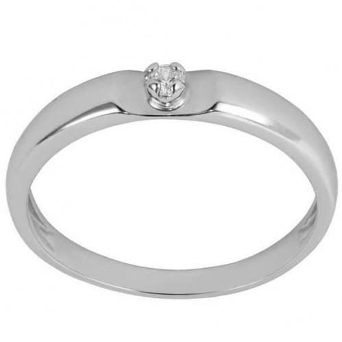 Кольцо из белого золота со вставкой КВ1108Бн