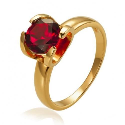 Золотое кольцо с гранатом КВ1113.10203н