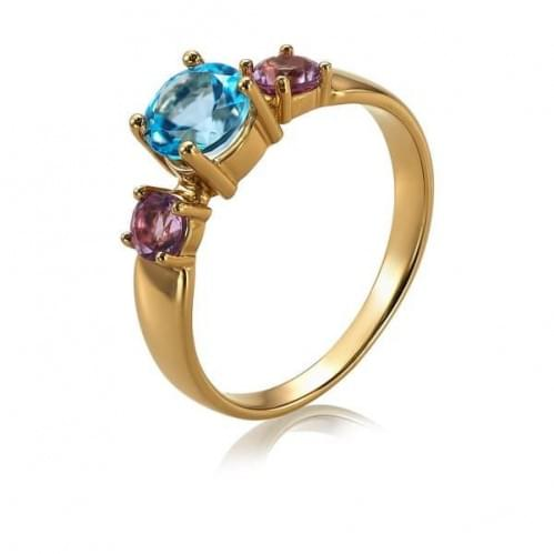 Золотое кольцо с топазом КВ1115.12101н