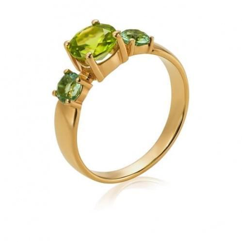 Золотое кольцо с кварцем КВ1115.14207н