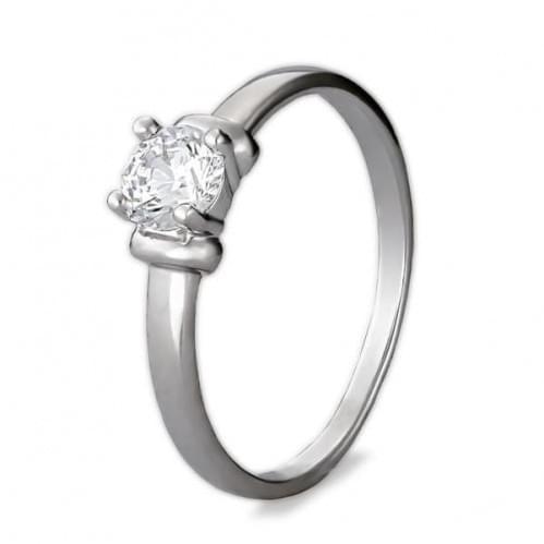 Серебряное кольцо с фианитом КВ1118с