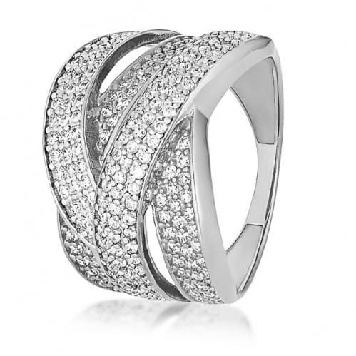 Серебряное кольцо с фианитом КВ1123с