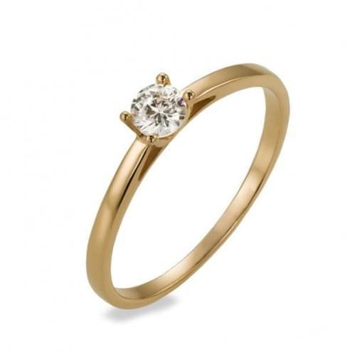 Золотое кольцо с фианитом КВ1126и