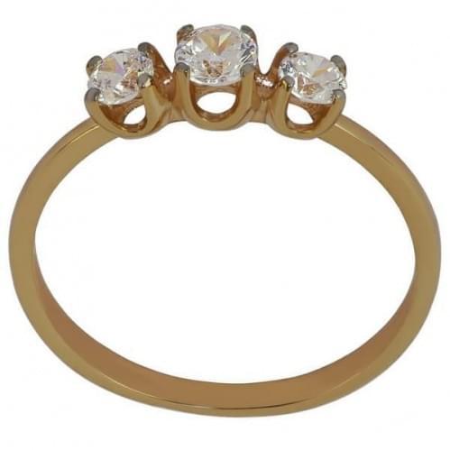 Кольцо золотое с фианитом КВ1127и