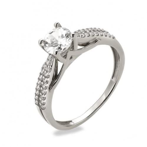 Серебряное кольцо с фианитом КВ1130с