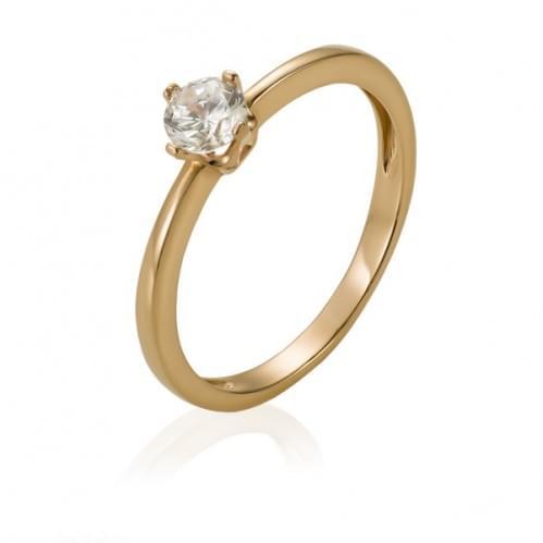Золота каблучка з діамантом КВ1131.00100н