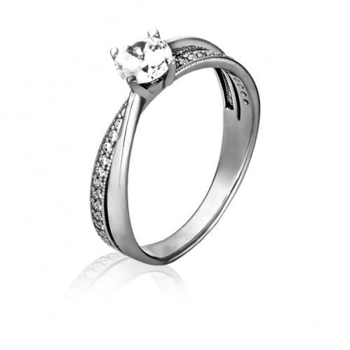 Серебряное кольцо с фианитом КВ1133с