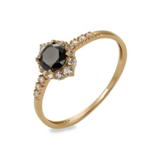 Золотое кольцо с фианитом КВ1135.010и