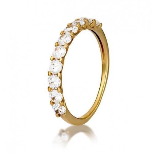 Золотое кольцо с фианитом КВ1137и