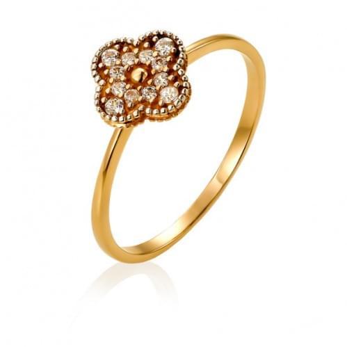 Золотое кольцо с фианитом КВ1138и
