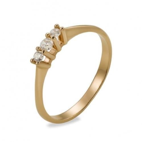 Кольцо золотое с фианитом КВ1140и