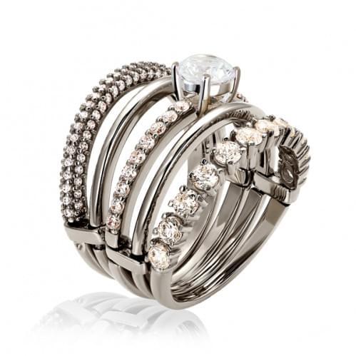 Кольцо из белого золота с фианитом КВ1142Би