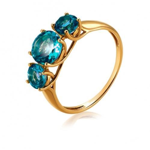 Золотое кольцо с топазом КВ1144.12201н