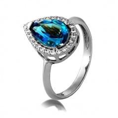 Золотое кольцо с натуральной вставкой