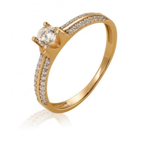 Золотое кольцо с фианитом КВ1148и