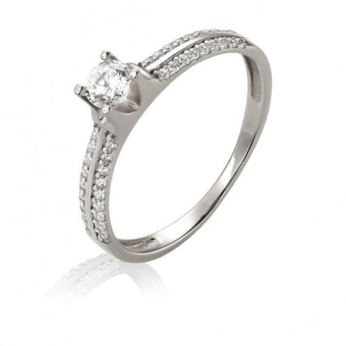 Серебряное кольцо с фианитом КВ1148с