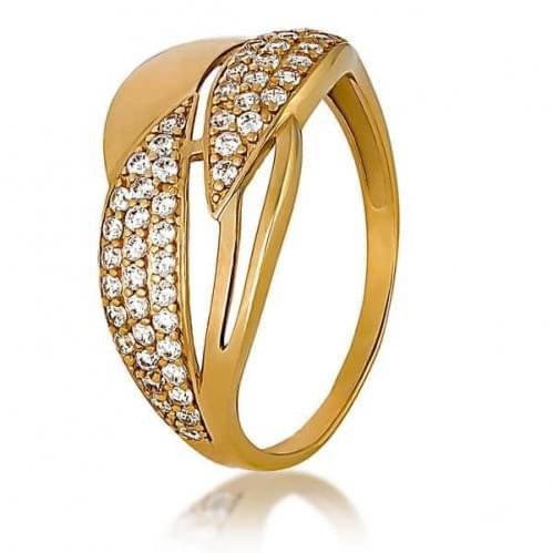 Золотое кольцо с фианитом КВ1151и