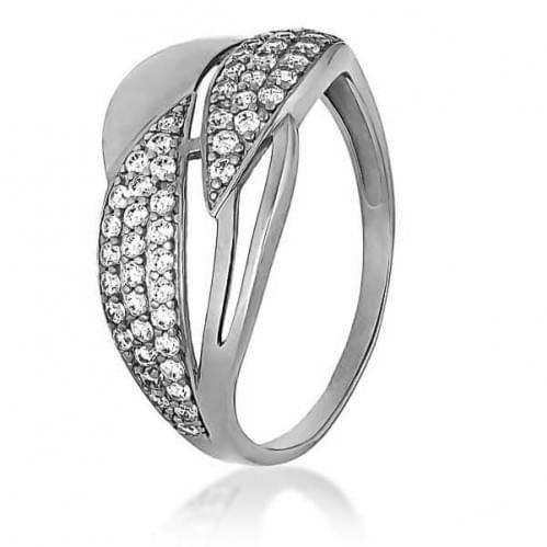 Серебряное кольцо с фианитом КВ1151с