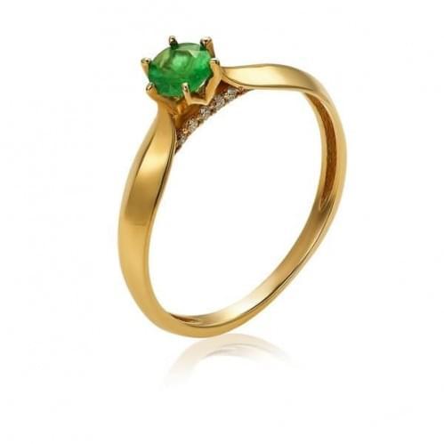 Золотое кольцо с изумрудом КВ1158.00207н