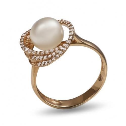 Золотое кольцо с жемчугом КВ1159и