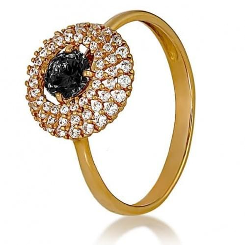 Золотое кольцо с фианитом КВ1160.010и