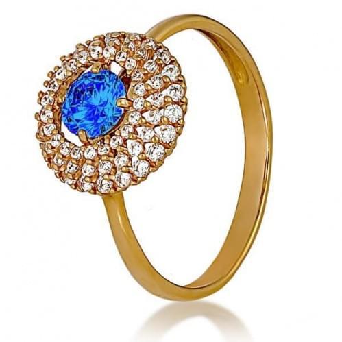 Золотое кольцо с фианитом КВ1160.02и