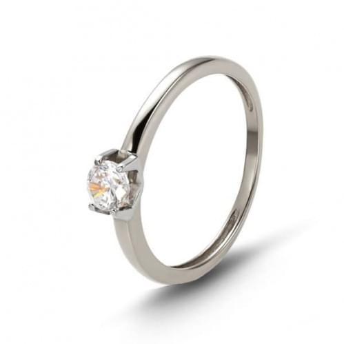 Кольцо из белого золота со вставкой КВ1161(2)Бн
