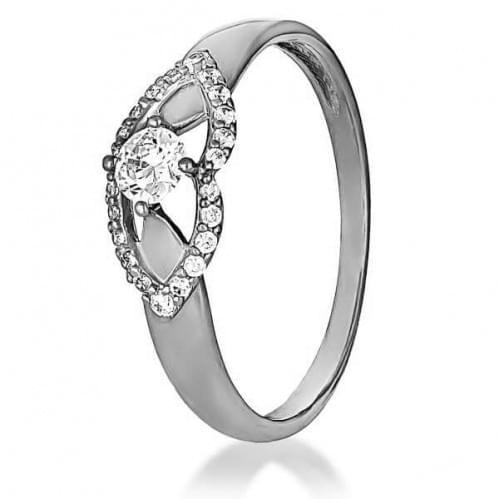 Серебряное кольцо с фианитом КВ1163с