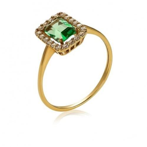 Золотое кольцо с кварцем КВ1164.14207н