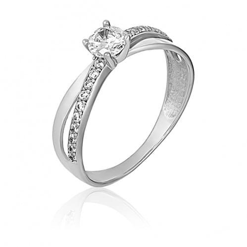 Серебряное кольцо с фианитом КВ1165с