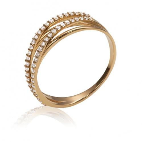 Золотое кольцо с фианитом КВ1168и