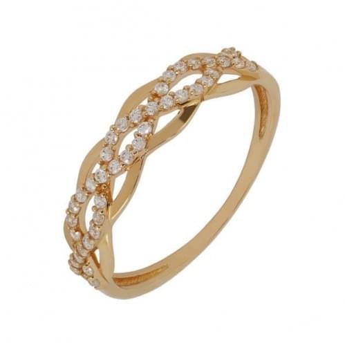 Золотое кольцо с фианитом КВ1169и