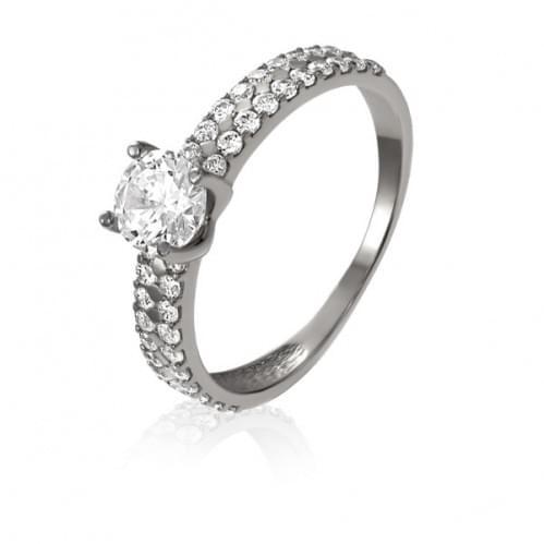 Серебряное кольцо с фианитом КВ1170с