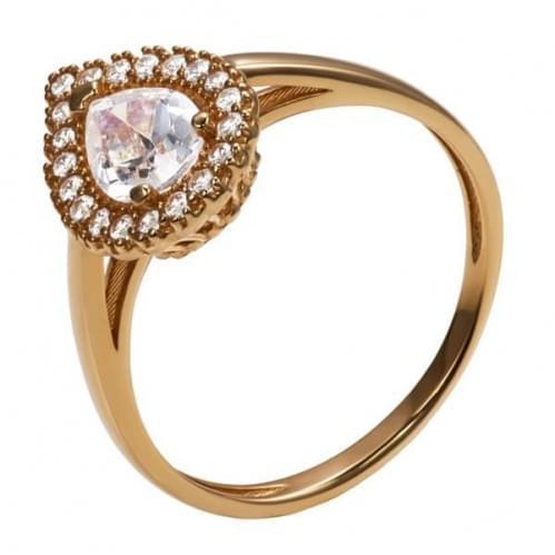 Золотое кольцо с фианитом КВ1171и