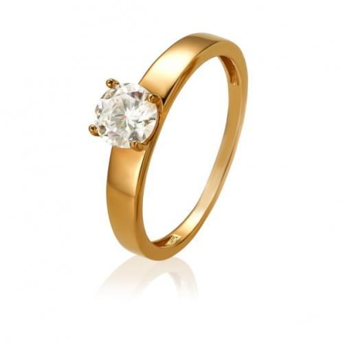 Золотое кольцо с фианитом КВ1174(1)и