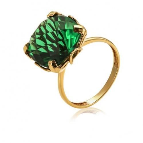 Золотое кольцо с кварцем КВ1178.14207н