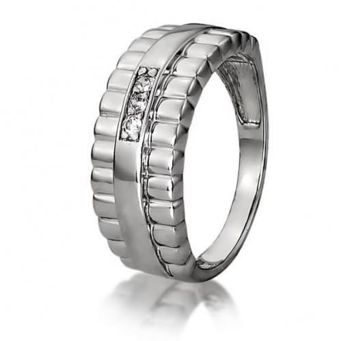 Серебряное кольцо с фианитом КВ1179с