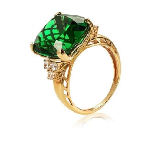 Золотое кольцо с кварцем КВ1183.14207н