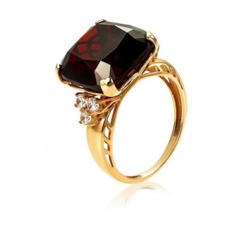 Золотое кольцо с нано камнем КВ1183.16203н