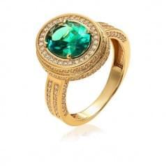 Золотое кольцо с нано камнем