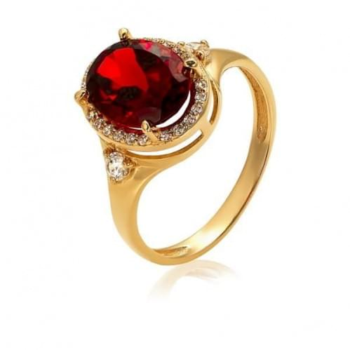 Золотое кольцо с гранатом КВ1186(2).10203н