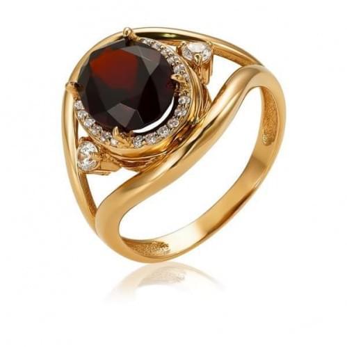 Золотое кольцо с нано гранатом КВ1186(2).16203н