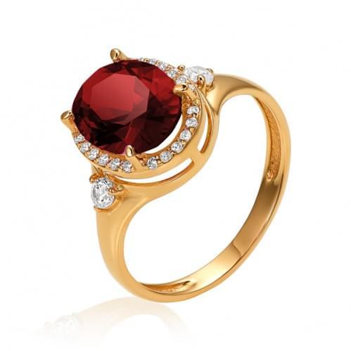 Золотое кольцо с нано гранатом КВ1186.16203н