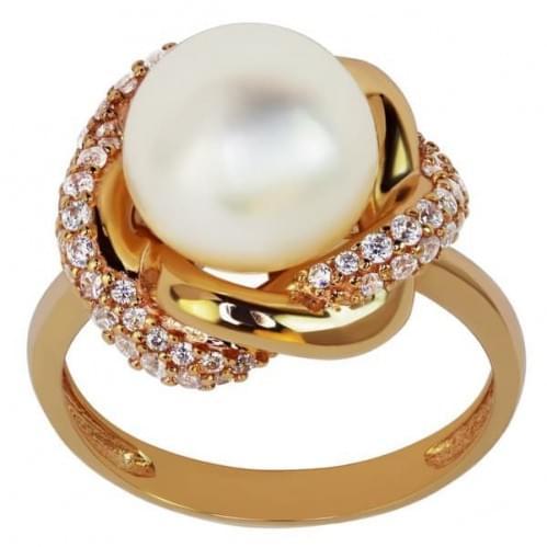 Золотое кольцо с жемчугом КВ1187(м)и