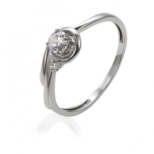 Серебряное кольцо с фианитом КВ1193с