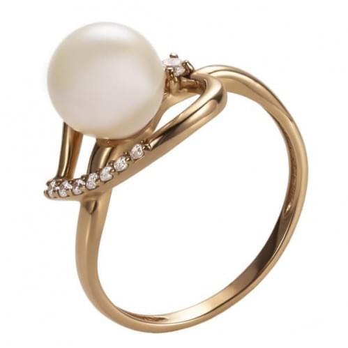 Золотое кольцо с жемчугом КВ1194и