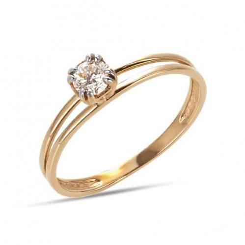 Золотое кольцо с фианитом КВ1199и