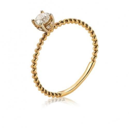 Золотое кольцо с бриллиантом КВ1199.00100н