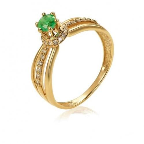 Золотое кольцо с изумрудом КВ1200.00207н
